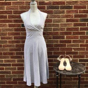 H & M Striped Chambray Halter Dress Size 6